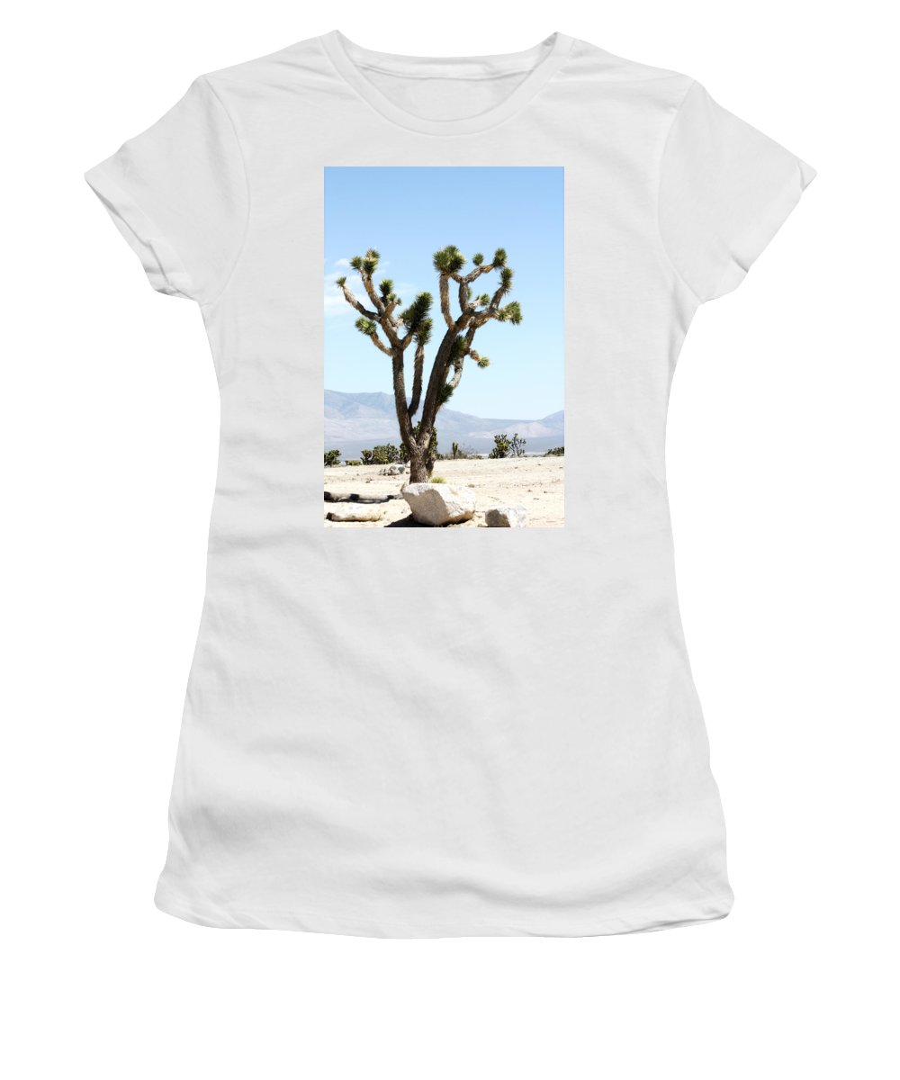 Desert Life Women's T-Shirt (Athletic Fit) featuring the photograph Joshua Tree by Gravityx9 Designs