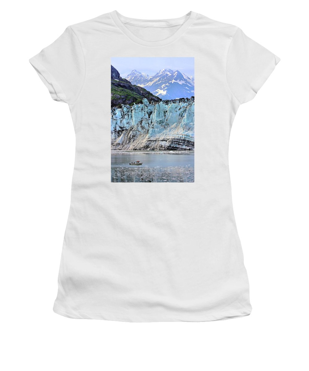 Lamplugh Glacier Women's T-Shirt featuring the photograph Lamplugh Glacier by Kristin Elmquist