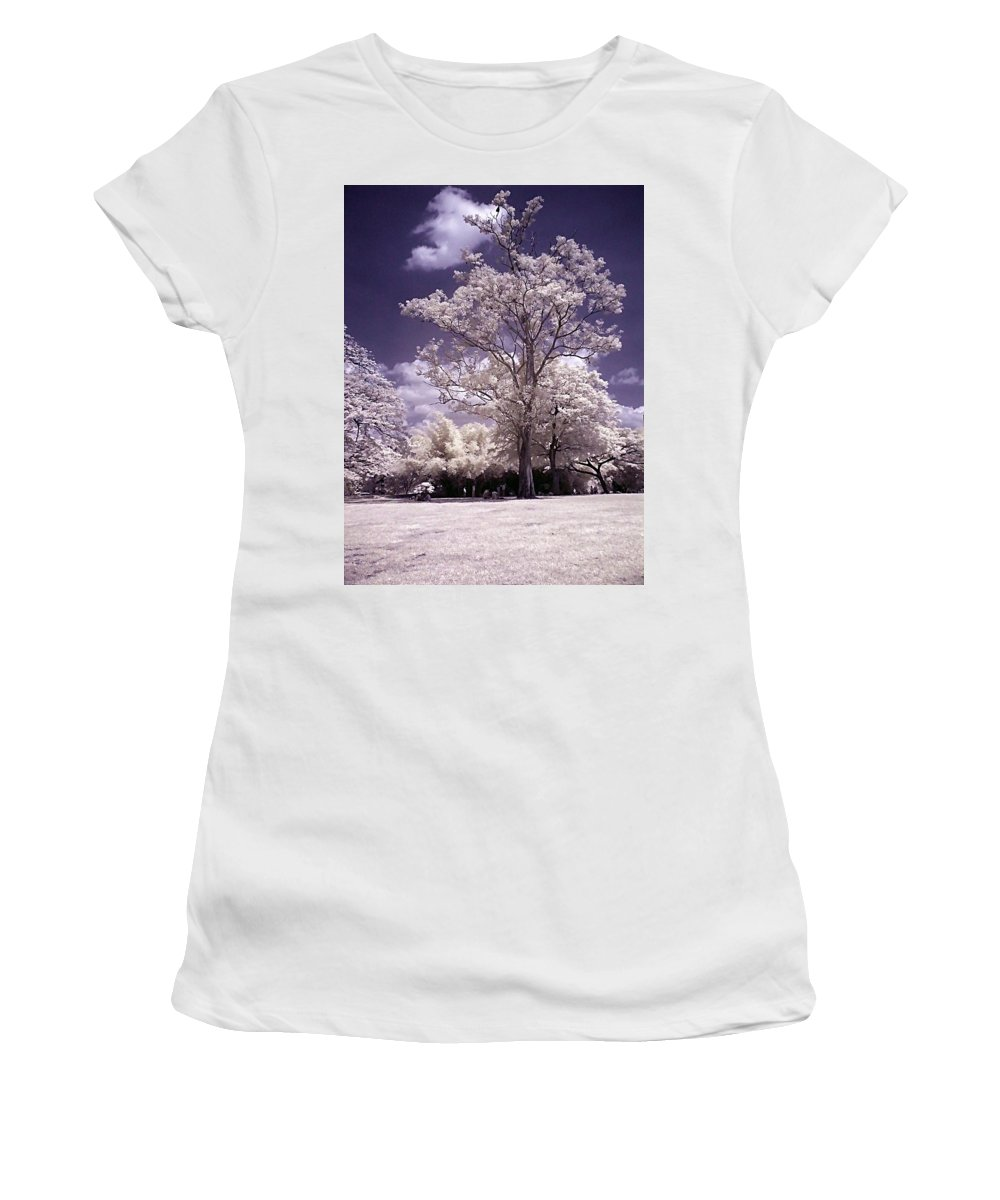 Infrared Women's T-Shirt (Athletic Fit) featuring the photograph Magic Garden by Galeria Trompiz