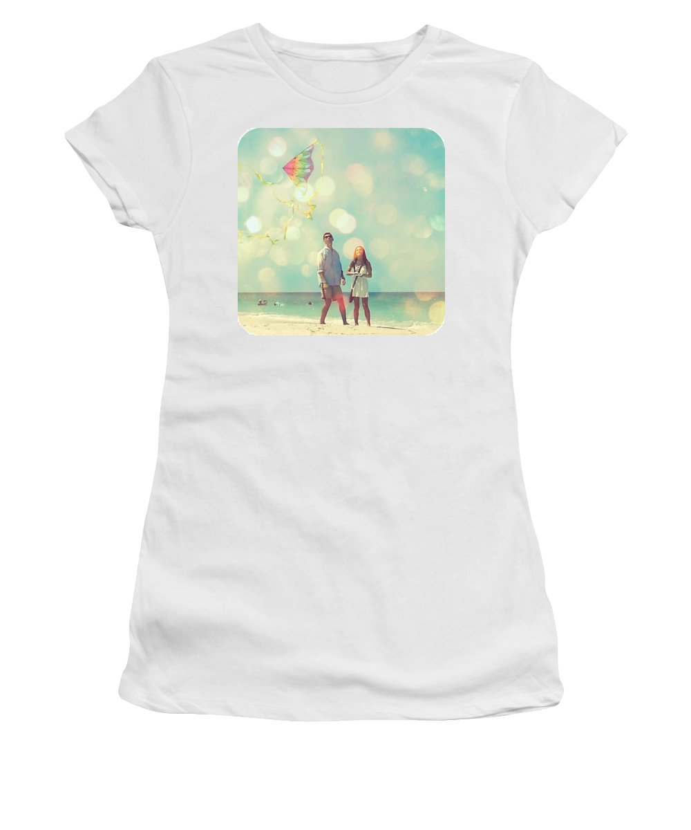Women's T-Shirt featuring the digital art New Upload by Valerie Reeves