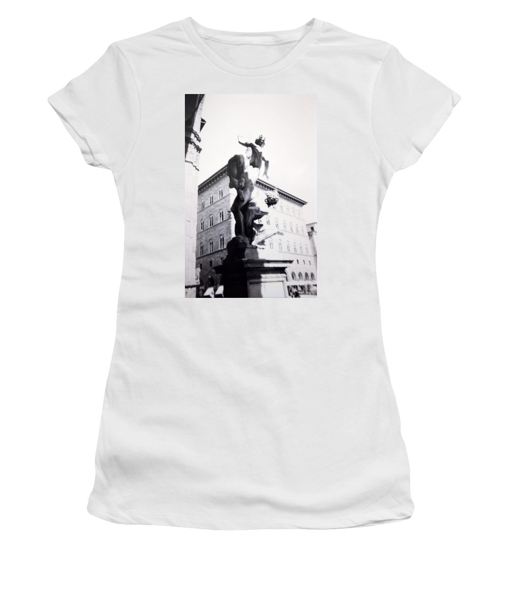 Florence Women's T-Shirt (Athletic Fit) featuring the photograph Palazzo Vecchio by Kurt Hausmann