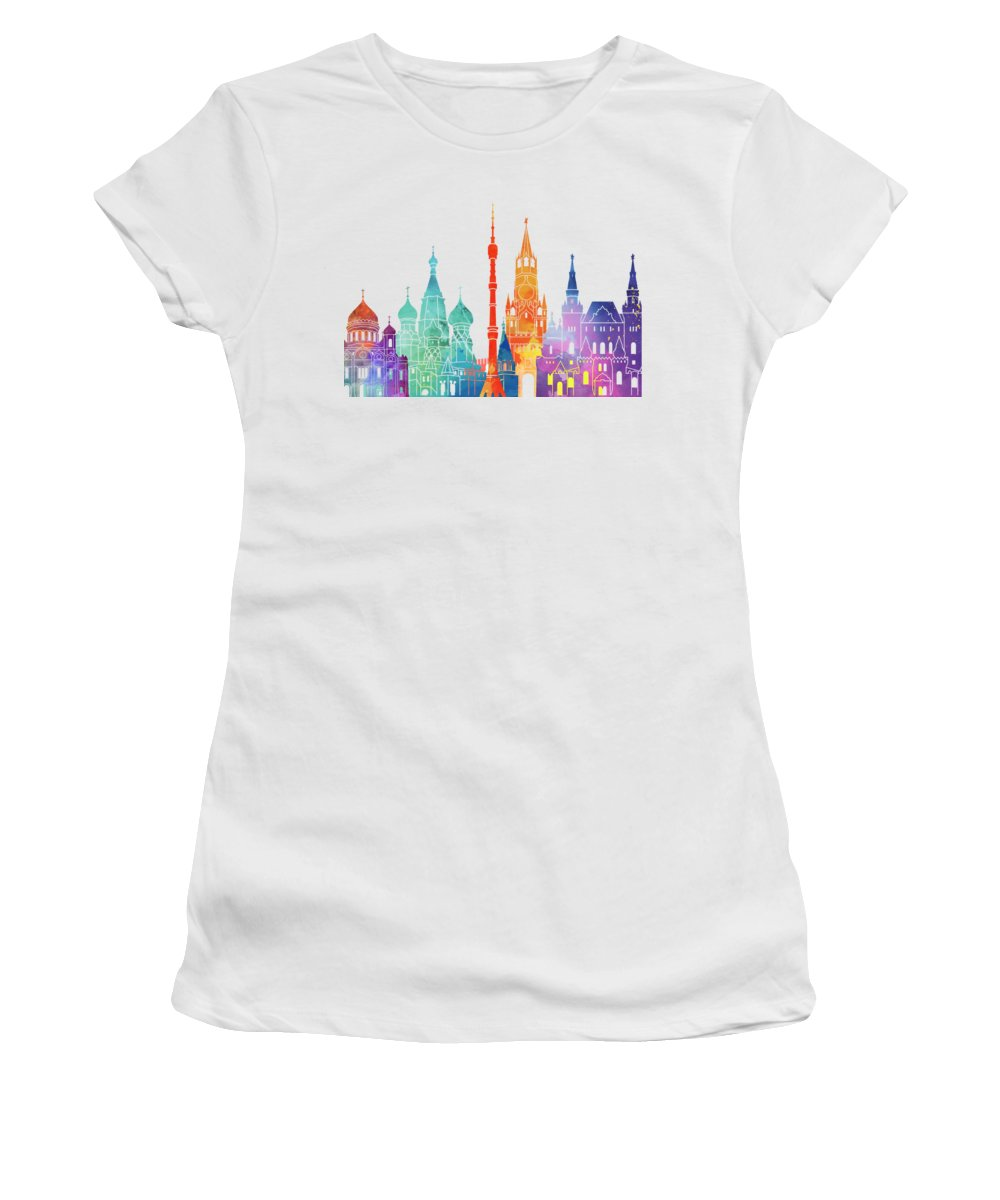 Moscow Skyline Women's T-Shirts