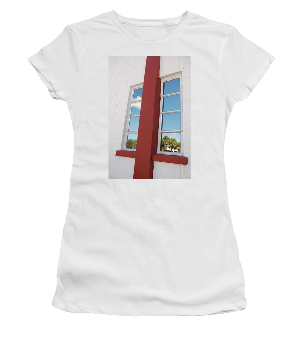 Sky Women's T-Shirt featuring the photograph Window T Glass by Rob Hans