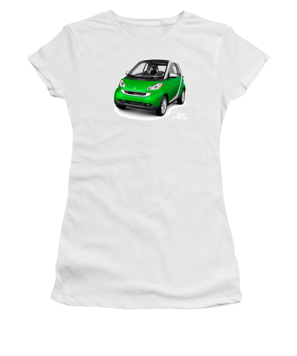 Smart Women's T-Shirt featuring the photograph 2008 Smart Fortwo City Car by Oleksiy Maksymenko