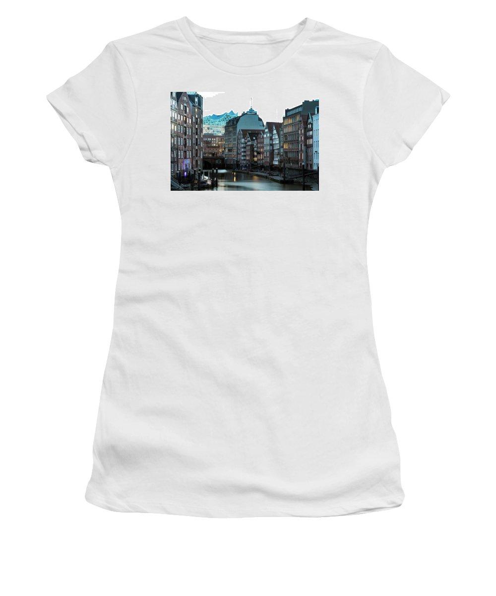 Hamburg Women's T-Shirt (Athletic Fit) featuring the photograph Hamburg - Germany by Joana Kruse