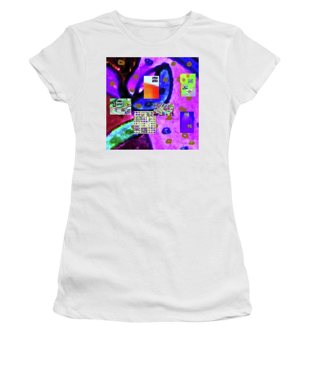 Walter Paul Bebirian Women's T-Shirt (Athletic Fit) featuring the digital art 3-3-2016ba by Walter Paul Bebirian