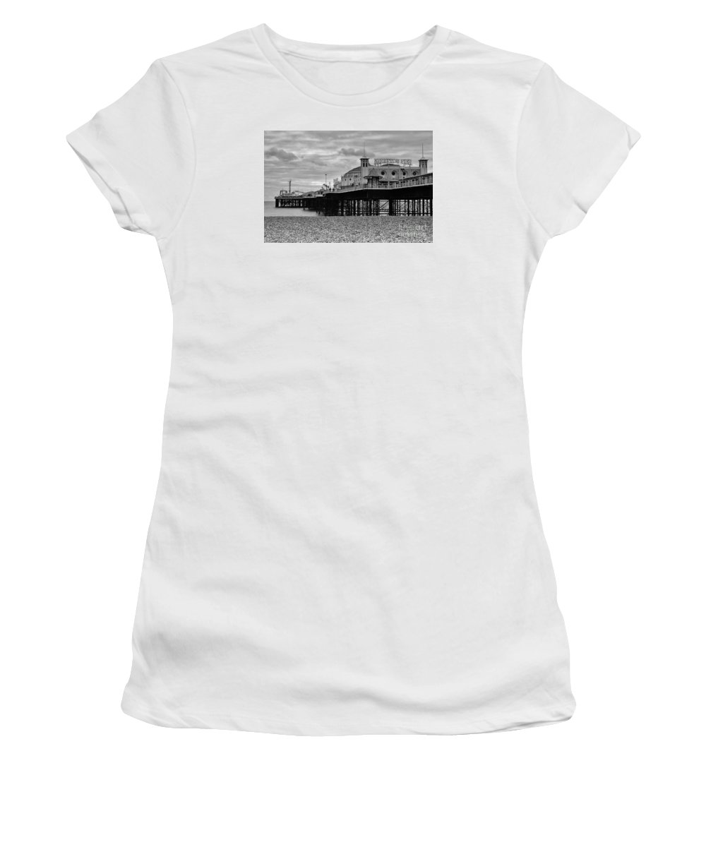 Brighton Pier Women's T-Shirt (Athletic Fit) featuring the photograph Brighton Pier by Smart Aviation
