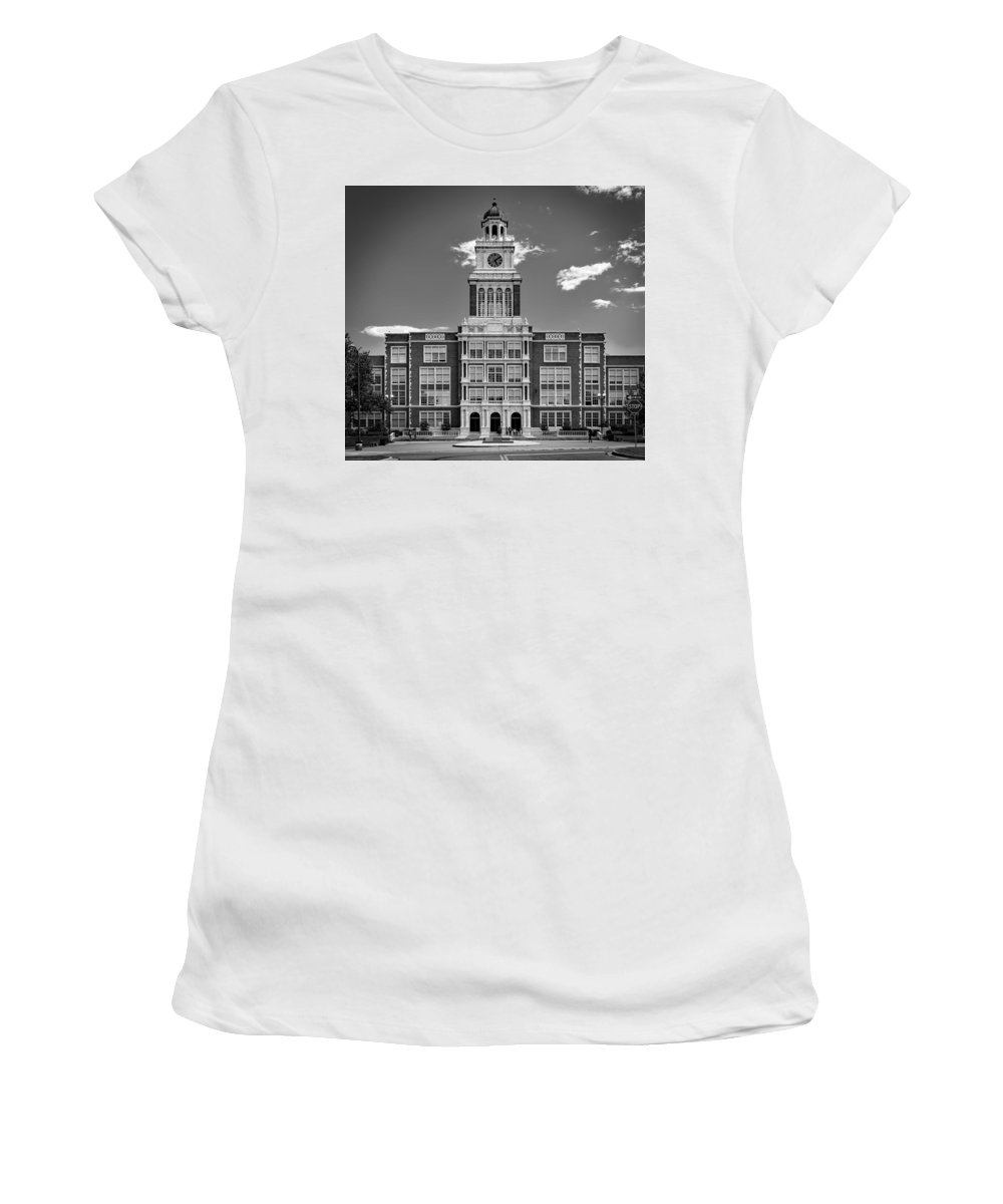 East High School Women's T-Shirt featuring the photograph Denver's East High School by Mountain Dreams