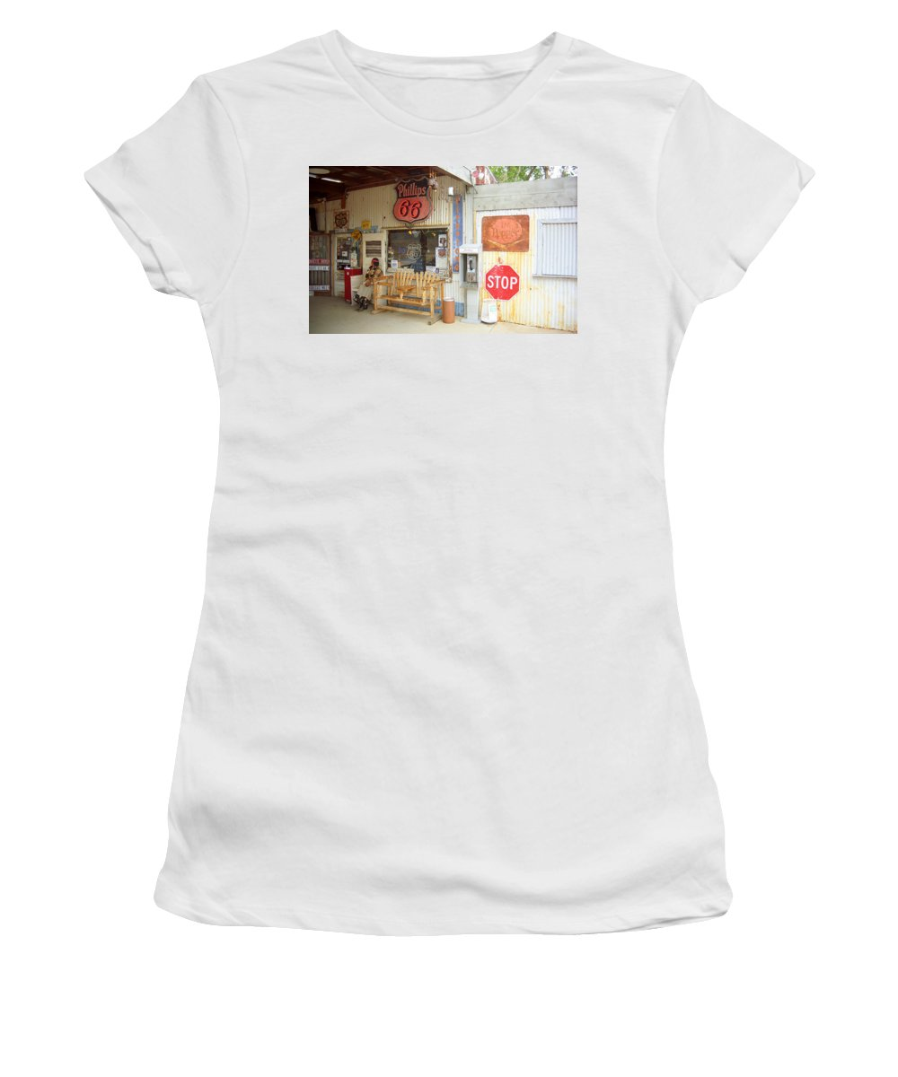 66 Women's T-Shirt featuring the photograph Route 66 - Hackberry General Store by Frank Romeo