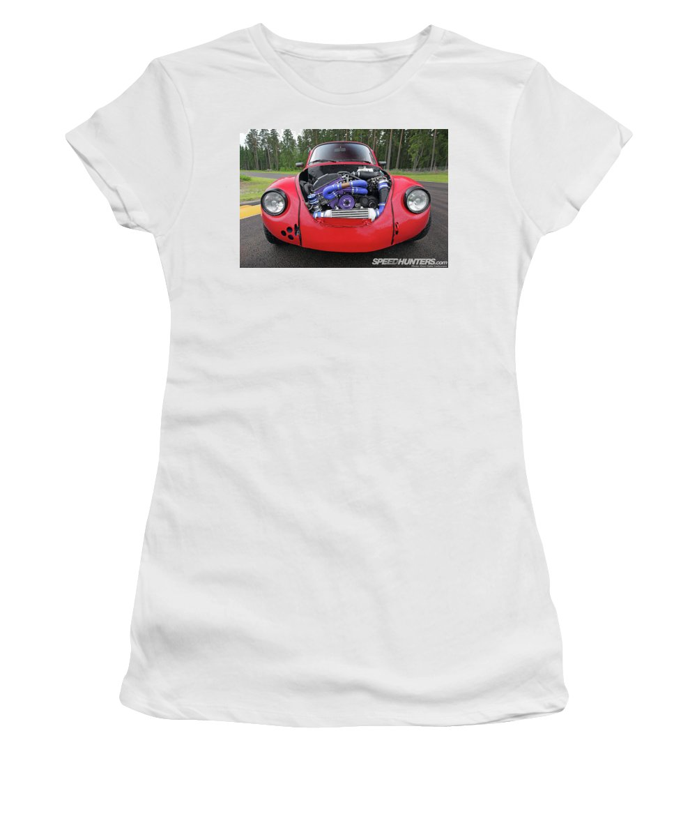 Volkswagen Beetle Women's T-Shirt featuring the photograph Volkswagen Beetle by Jackie Russo