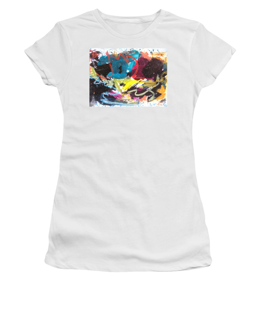 Sjkim Art Women's T-Shirt featuring the painting Abstract Expressionsim Art by Seon-jeong Kim
