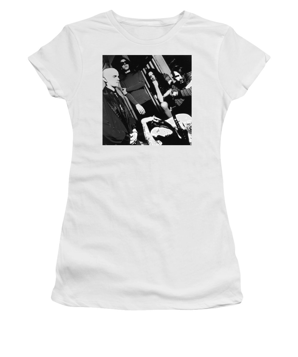 Marilyn Manson Women's T-Shirt featuring the photograph Marilyn Manson by Jackie Russo