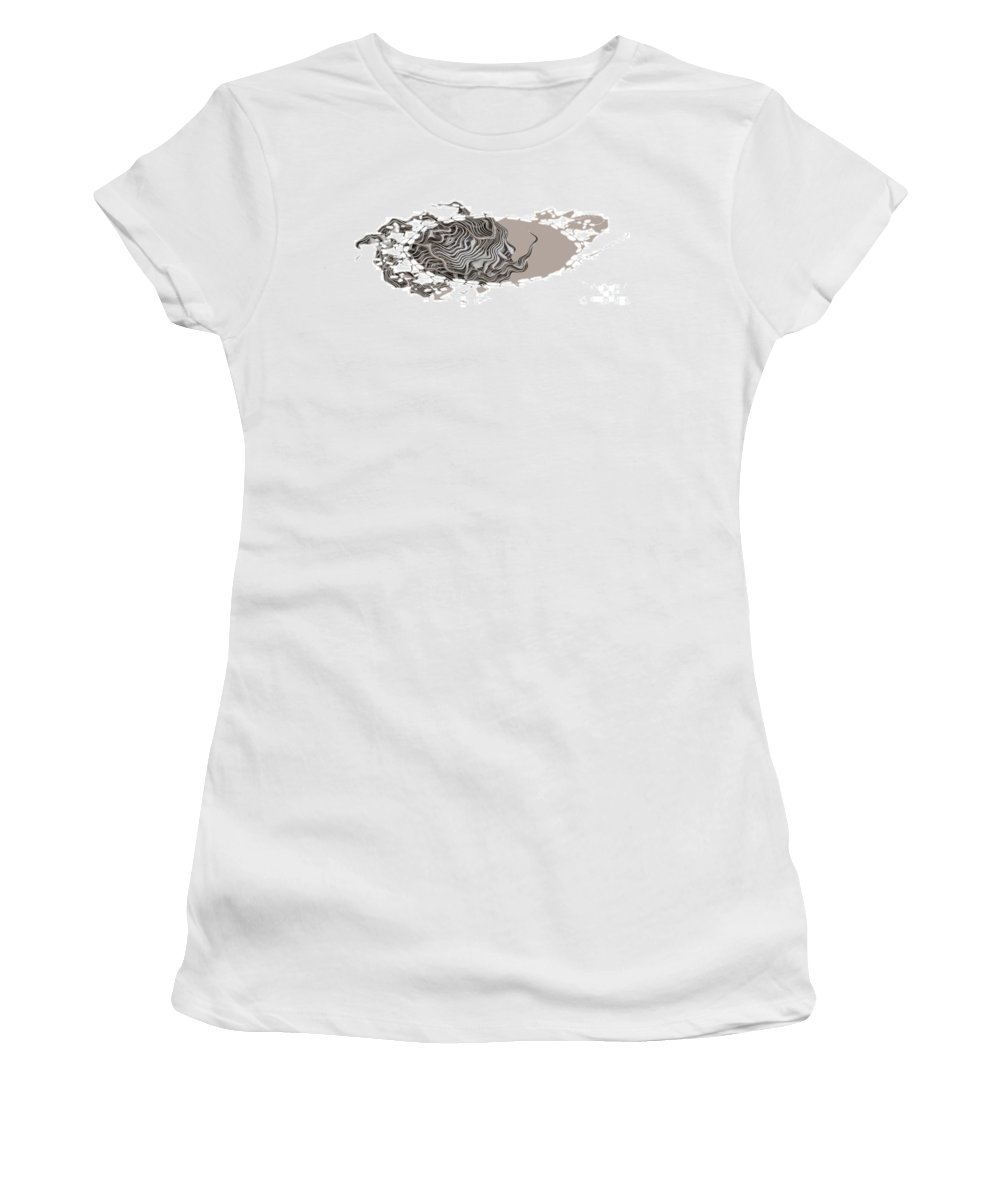 Abstract Women's T-Shirt (Athletic Fit) featuring the digital art 401k by Ron Bissett