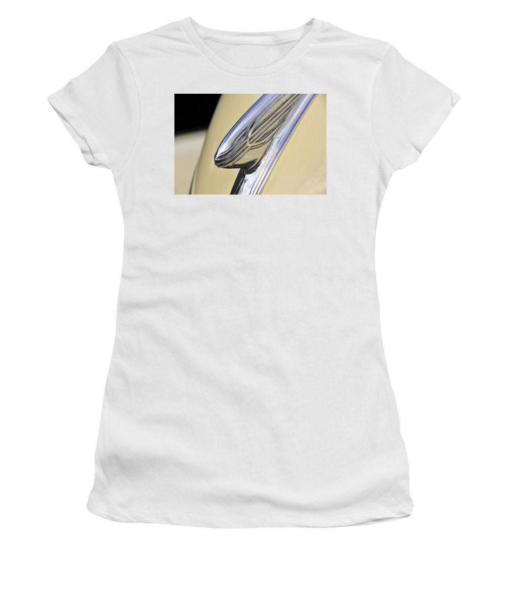 1940s Women's T-Shirt (Athletic Fit) featuring the photograph 40s Hudson Chrome by David Lee Thompson