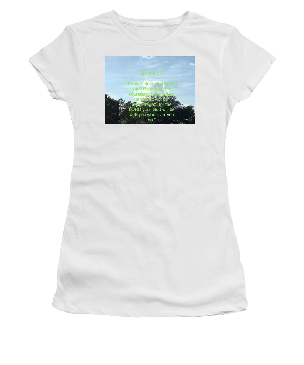 God Women's T-Shirt (Athletic Fit) featuring the photograph Bible Verse by Miriam Marrero