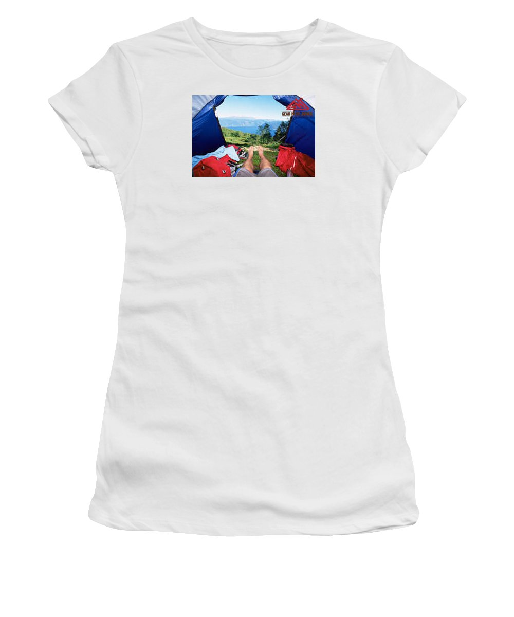 Women's T-Shirt (Athletic Fit) featuring the photograph Camping Furniture by Gear Head Junkie