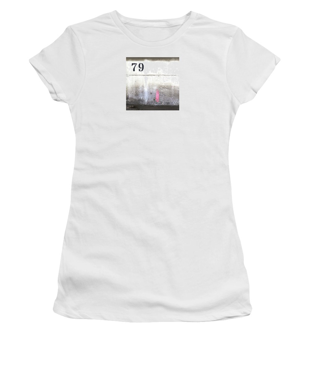 Font Women's T-Shirt (Athletic Fit) featuring the photograph 79 by Ballack Art House