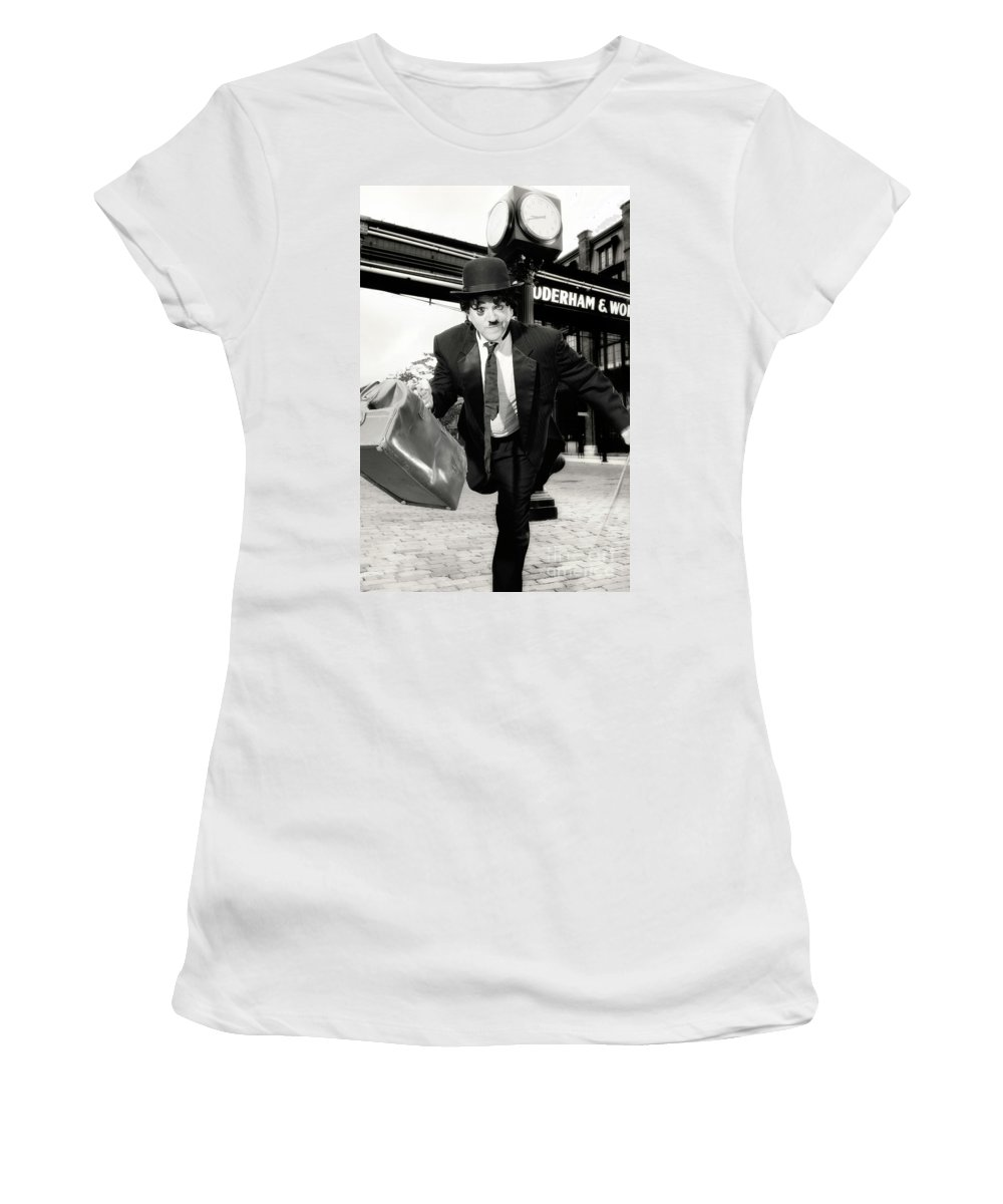Charlie Chaplin Women's T-Shirt (Athletic Fit) featuring the photograph Charlie Chaplin by Oleksiy Maksymenko