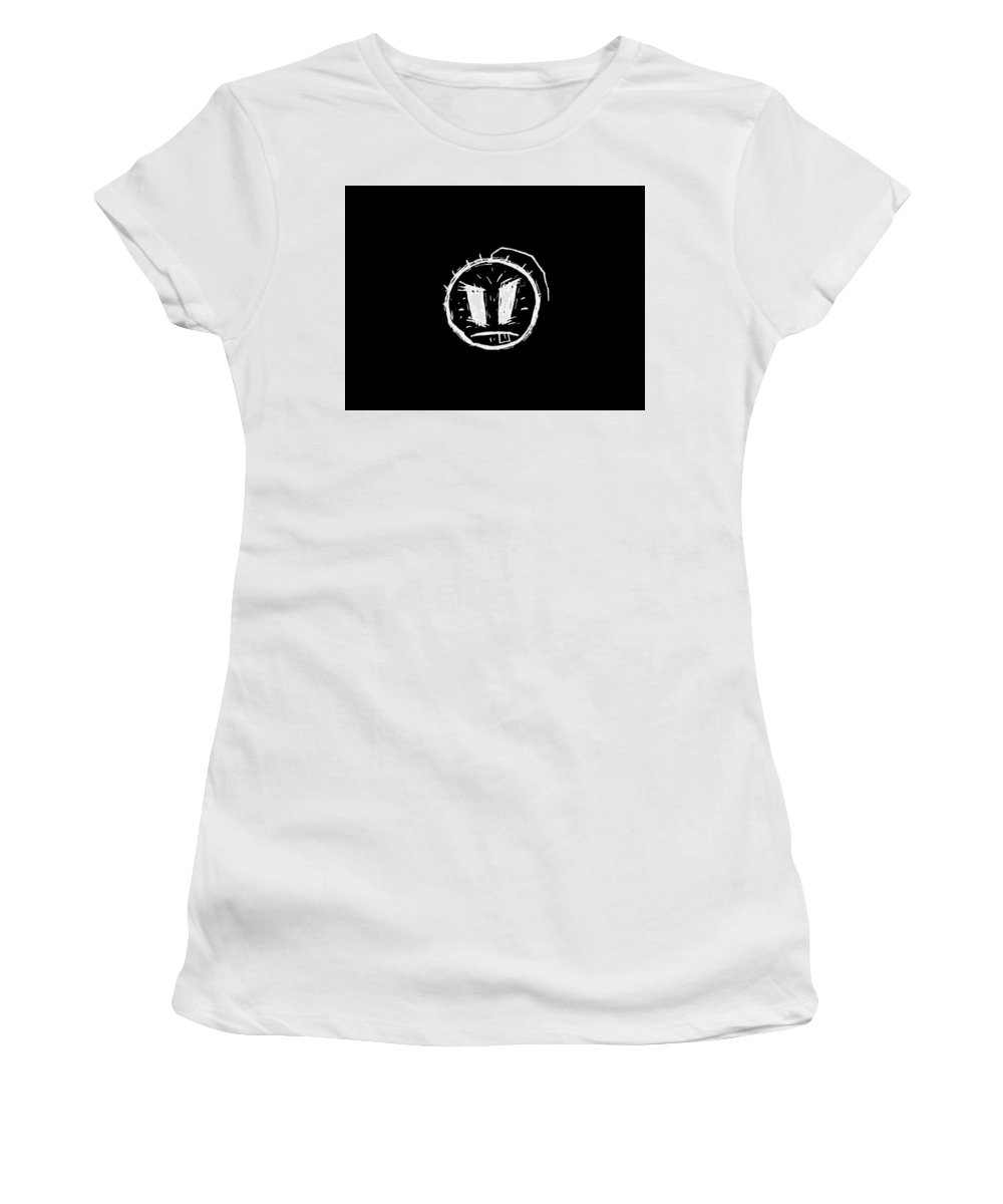 Smiley Women's T-Shirt (Athletic Fit) featuring the digital art Smiley by Mery Moon