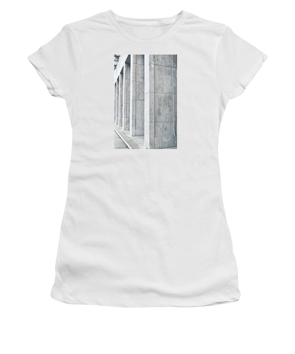 Abstract Women's T-Shirt featuring the photograph Pillars by Tom Gowanlock