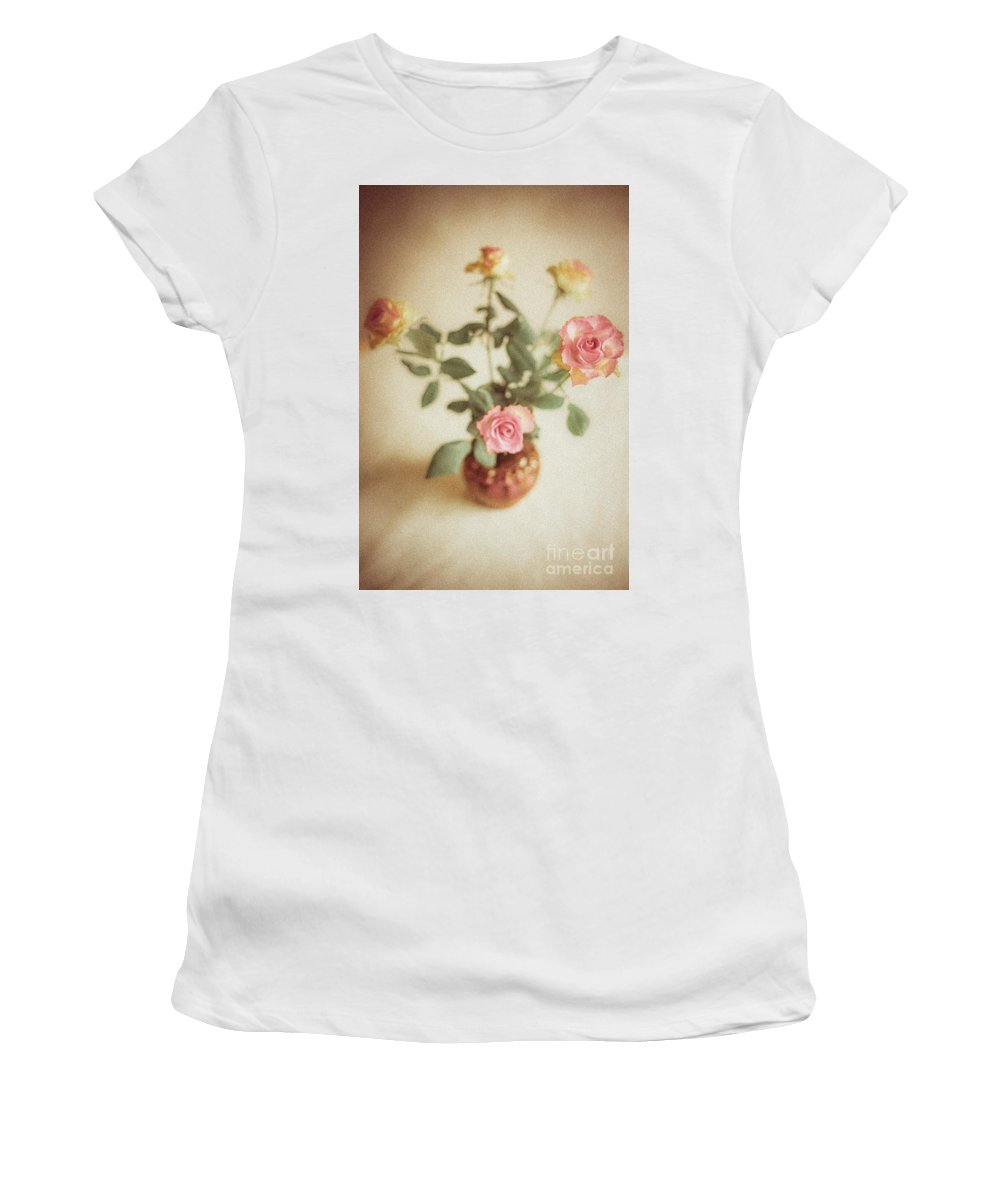 Roses Women's T-Shirt (Athletic Fit) featuring the photograph A Bouquet Of Roses by Lil Kin