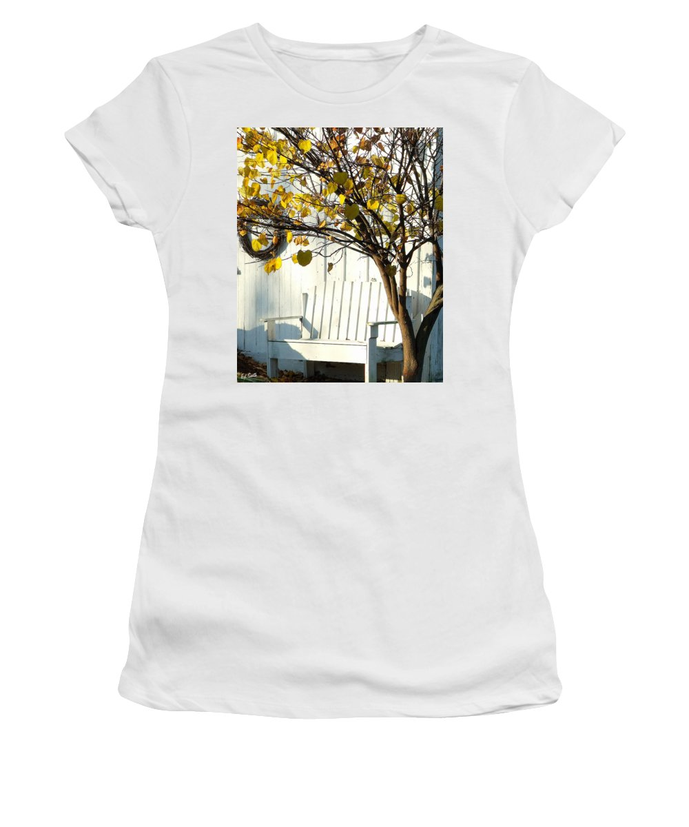 Cozy Women's T-Shirt featuring the photograph A Cozy Corner by Ed Smith