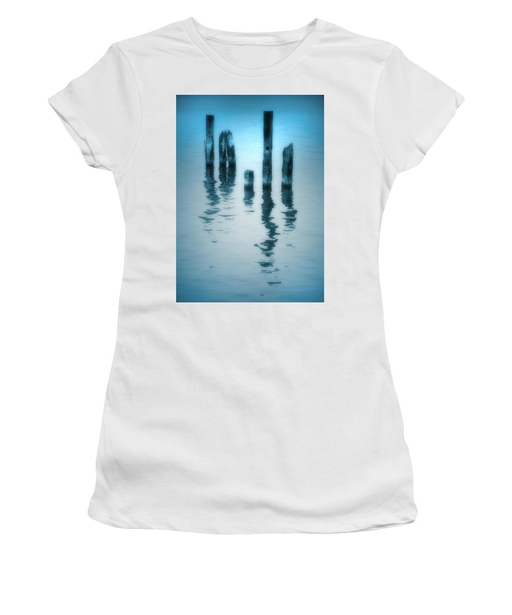 Blue Women's T-Shirt (Athletic Fit) featuring the photograph A Fleeting Blue by Tara Turner