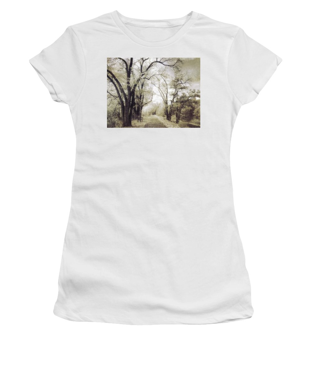 Path Women's T-Shirt (Athletic Fit) featuring the photograph A Place For Dreams To Stay Forever by Tara Turner