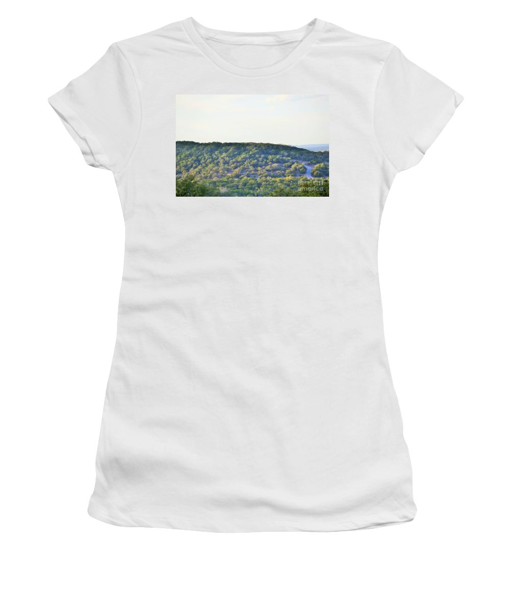 Women's T-Shirt featuring the photograph A Road by Jeff Downs