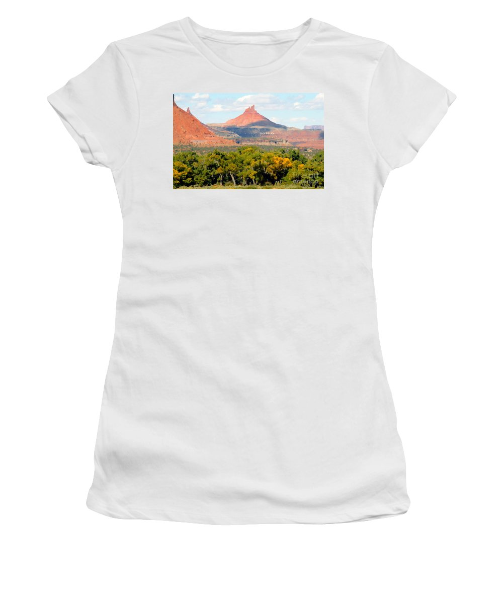 Fall Women's T-Shirt (Athletic Fit) featuring the photograph A Touch Of Fall by David Lee Thompson