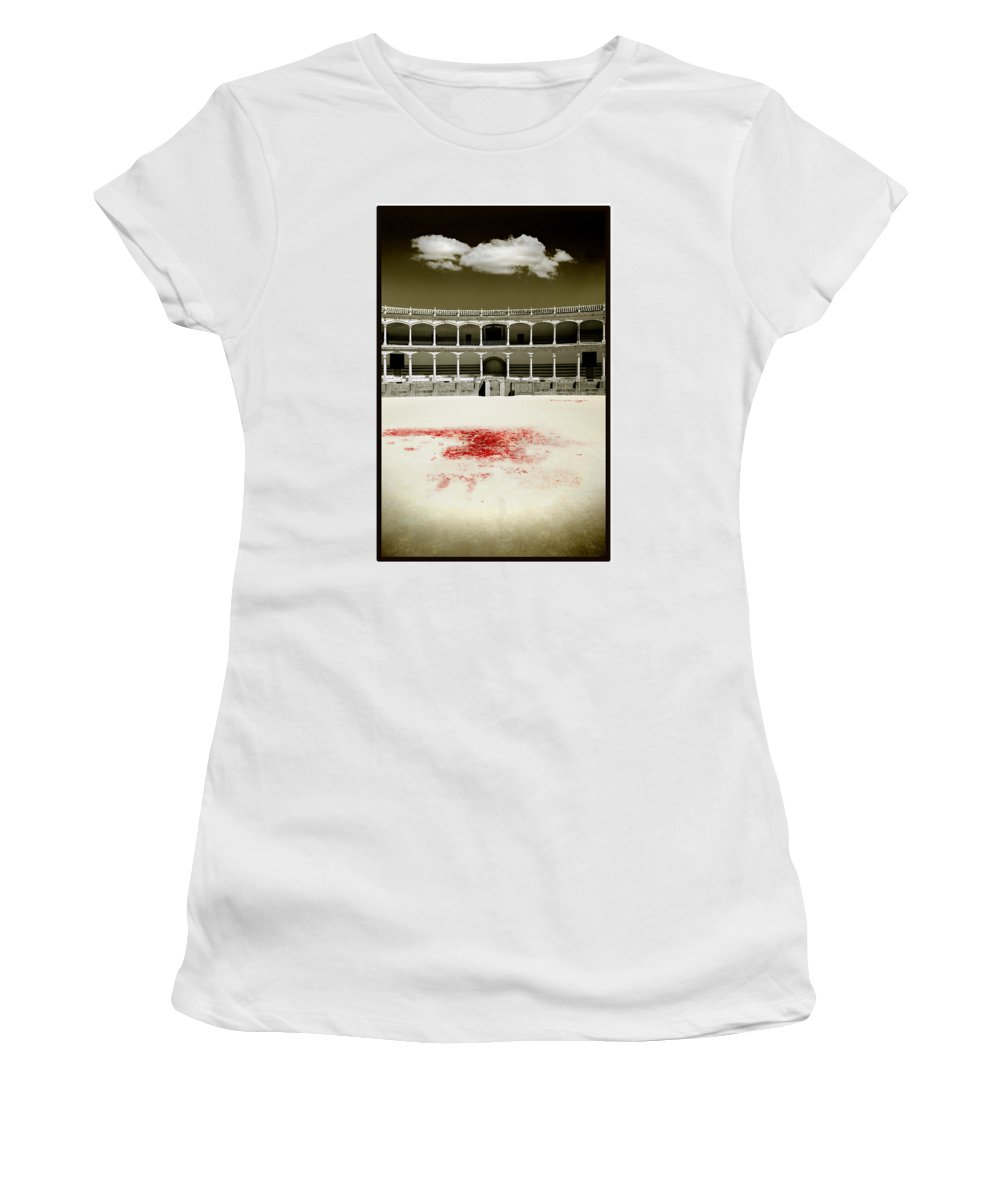 Bullfight Women's T-Shirt (Athletic Fit) featuring the photograph A Tradition Of Tragedy by Mal Bray