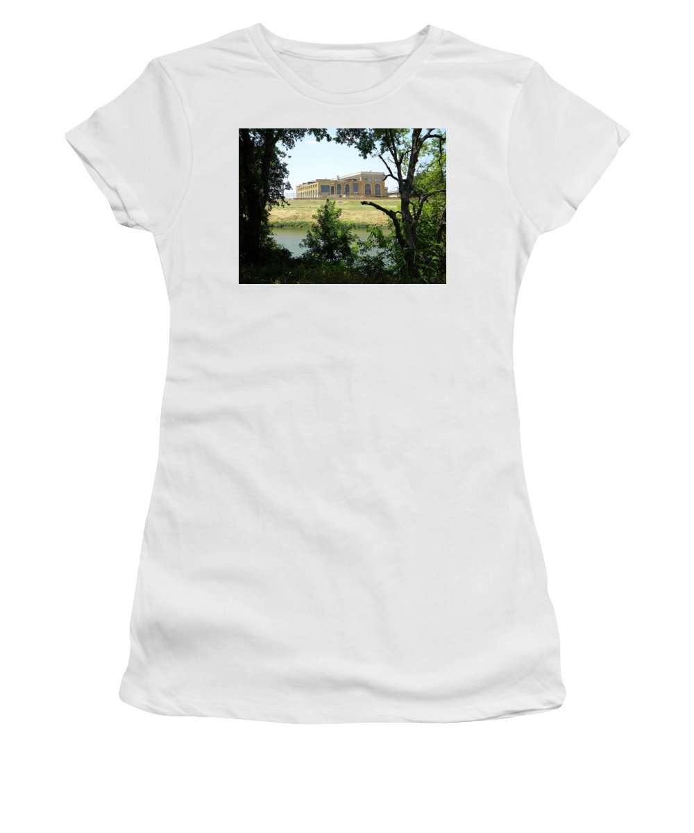 Abandoned Women's T-Shirt featuring the photograph Abandoned Electric Plant by Miguel Munoz