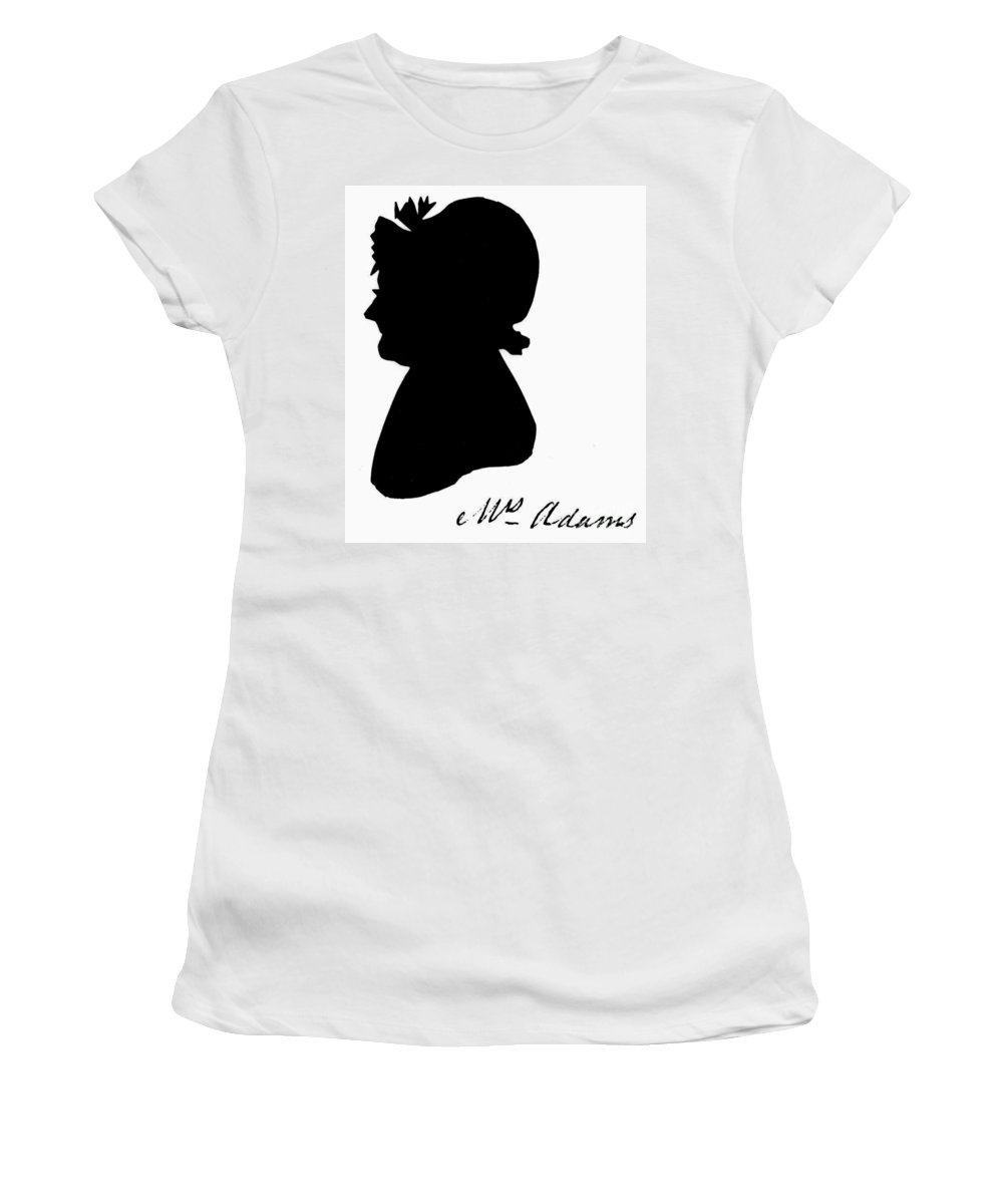 19th Century Women's T-Shirt (Athletic Fit) featuring the painting Abigail Adams by The Granger Collection