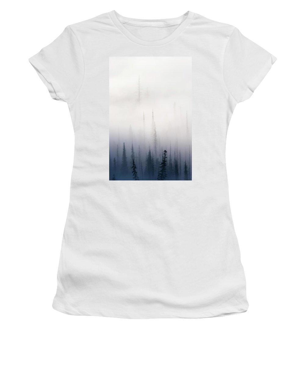 Clouds Women's T-Shirt (Athletic Fit) featuring the photograph Above Them All by Mike Dawson