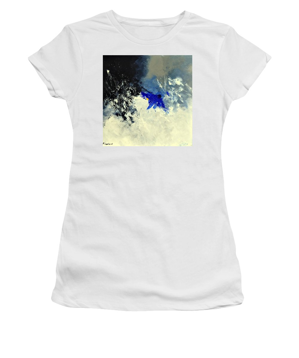 Abstract Women's T-Shirt (Athletic Fit) featuring the painting Abstract 8811301 by Pol Ledent