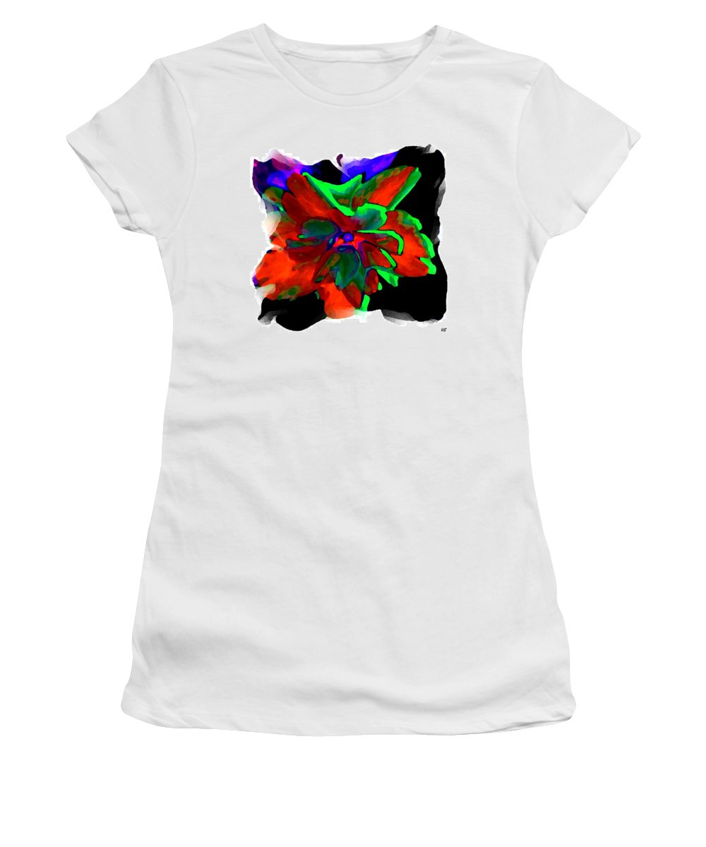 Abstract Women's T-Shirt (Athletic Fit) featuring the digital art Abstract Elegance by Will Borden
