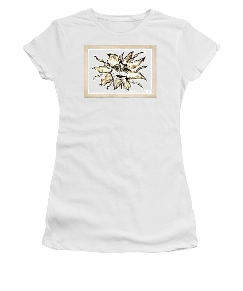 Abstraction Women's T-Shirt (Athletic Fit) featuring the digital art Abstraction 2253 by Marek Lutek