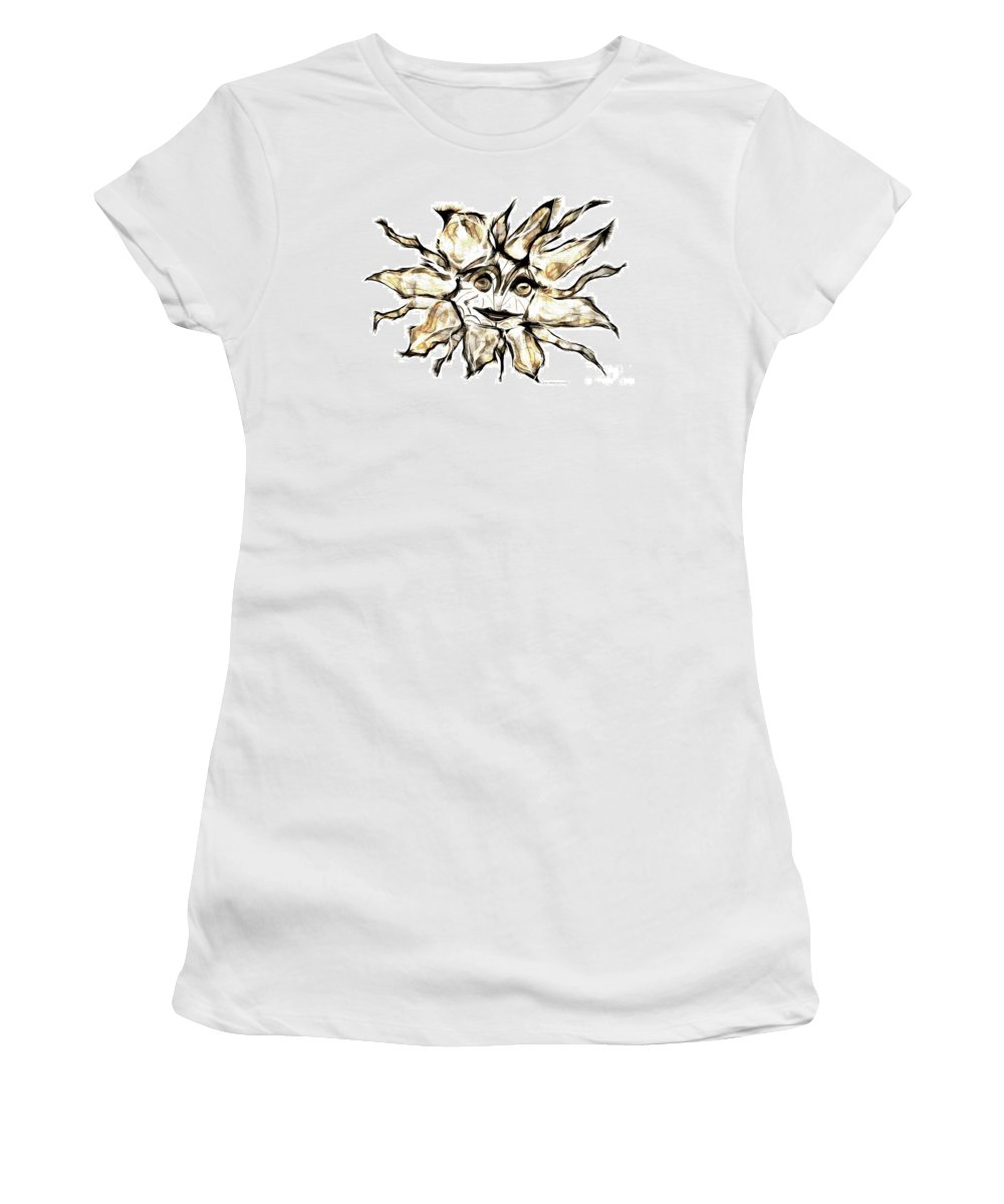 Abstraction Women's T-Shirt (Athletic Fit) featuring the digital art Abstraction 2254 by Marek Lutek