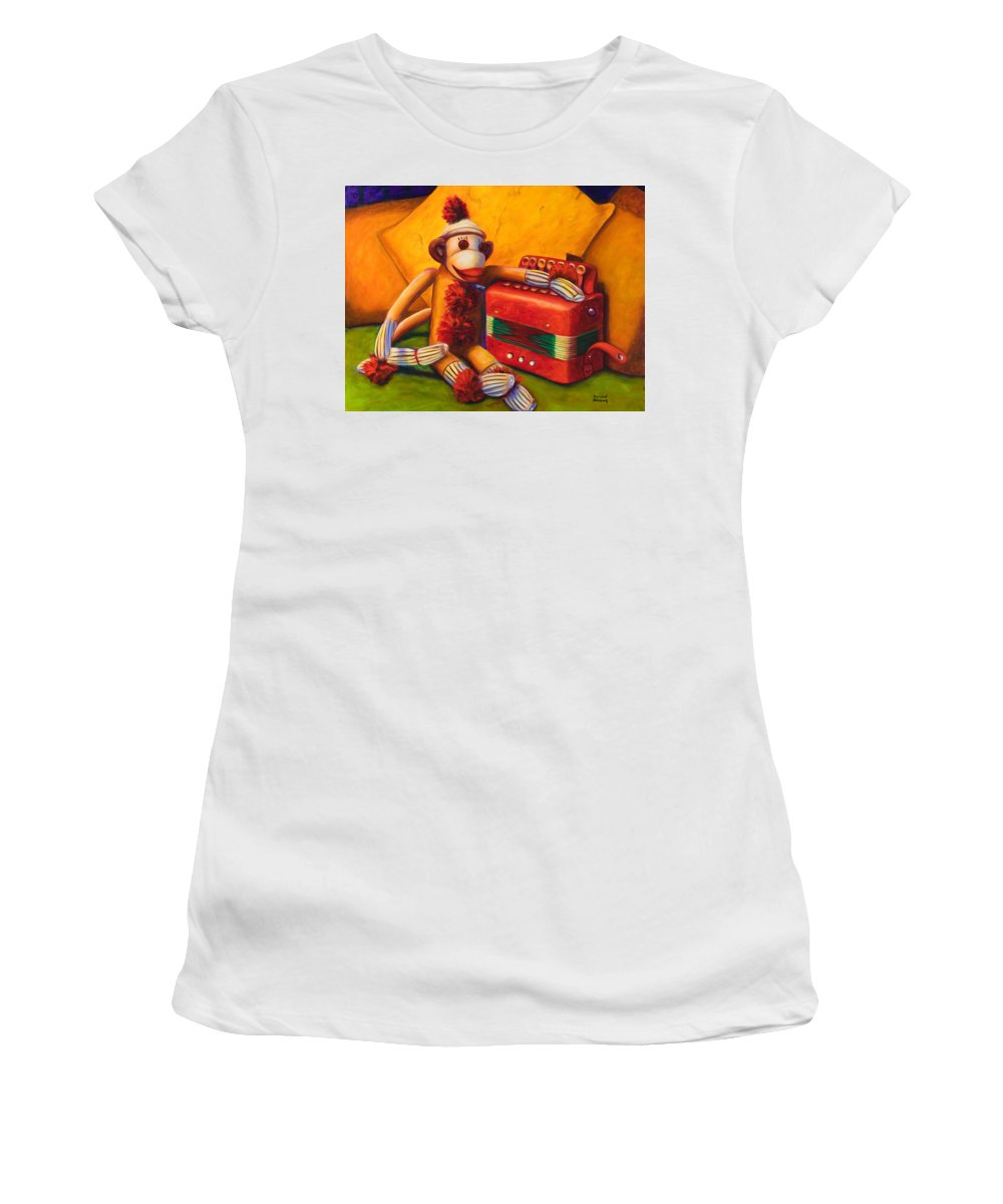 Children Women's T-Shirt (Junior Cut) featuring the painting Accordion by Shannon Grissom