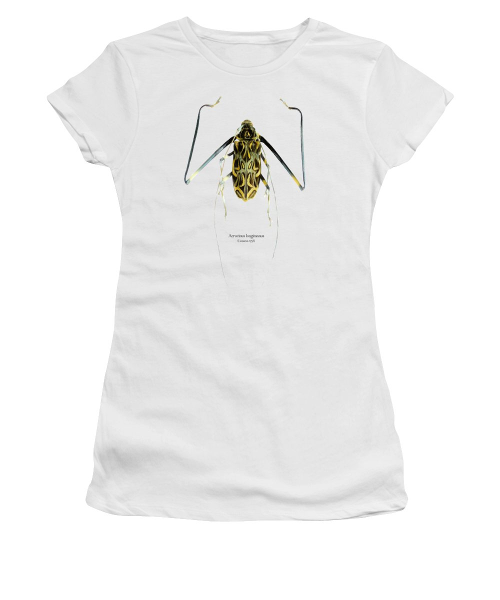 Nature Women's T-Shirt featuring the digital art Acrocinus II by Geronimo Martin Alonso