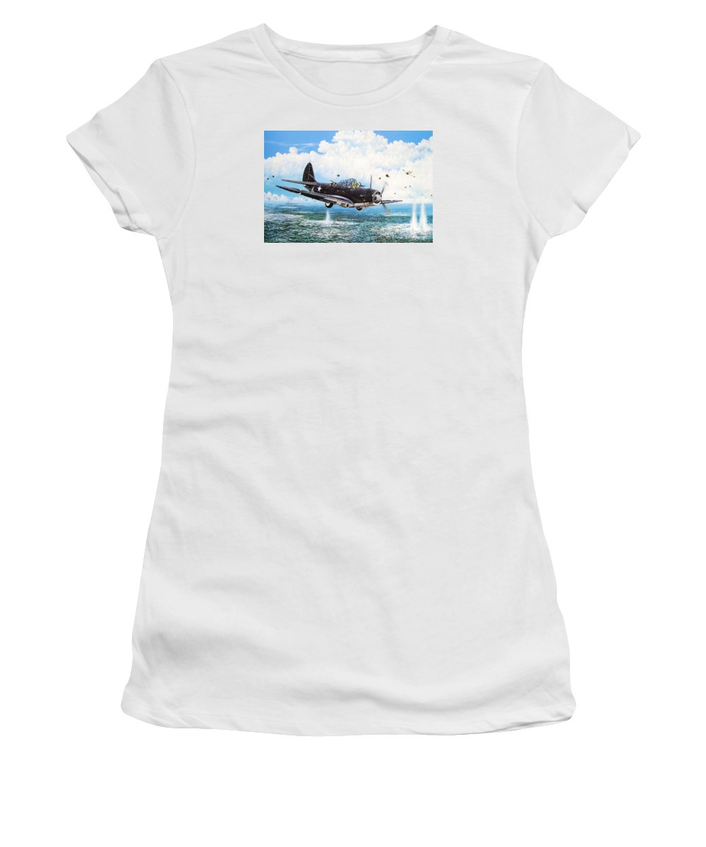 Military Women's T-Shirt (Athletic Fit) featuring the painting Against The Odds by Marc Stewart