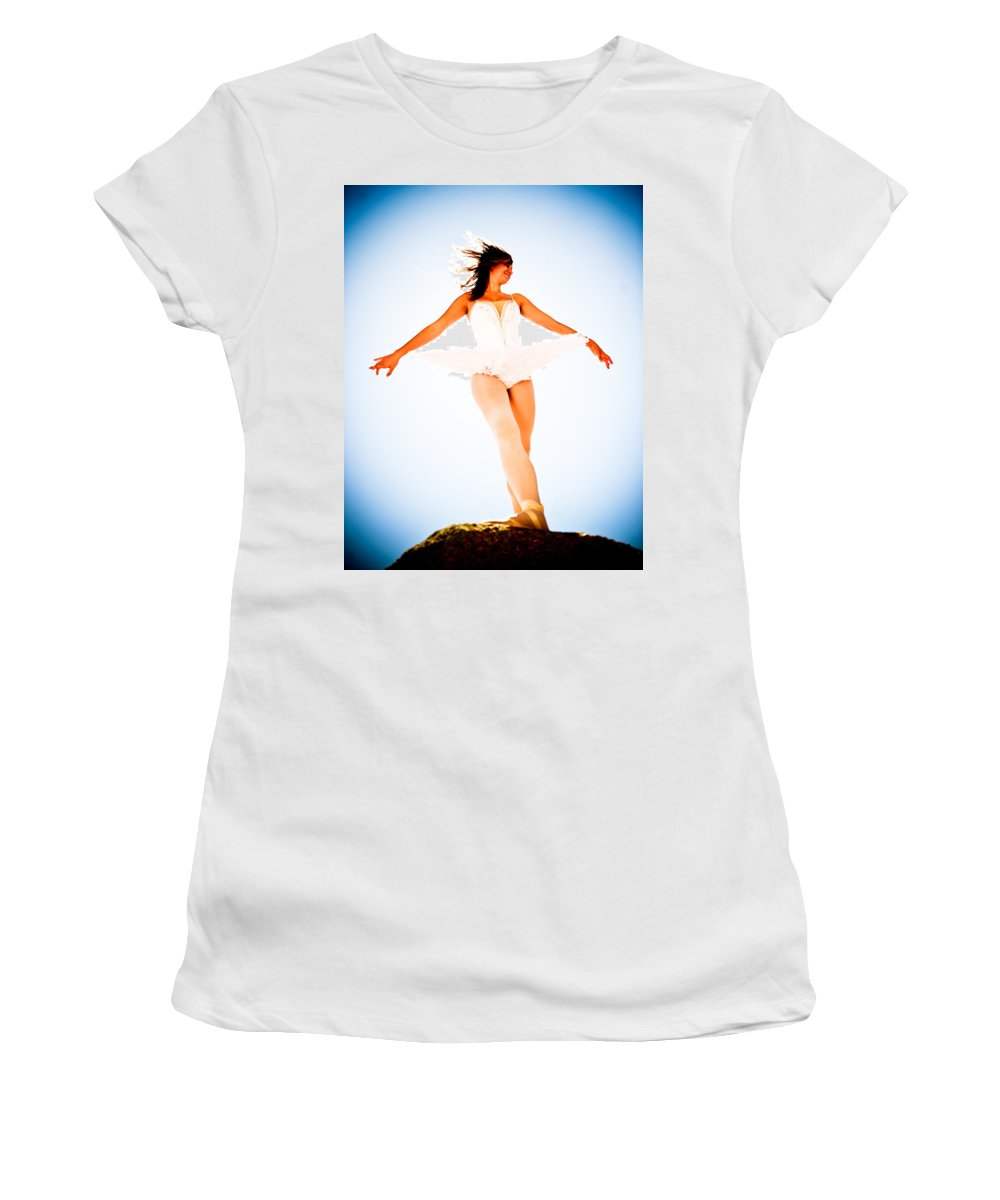 Ballet Women's T-Shirt (Athletic Fit) featuring the photograph Air Dancer by Scott Sawyer