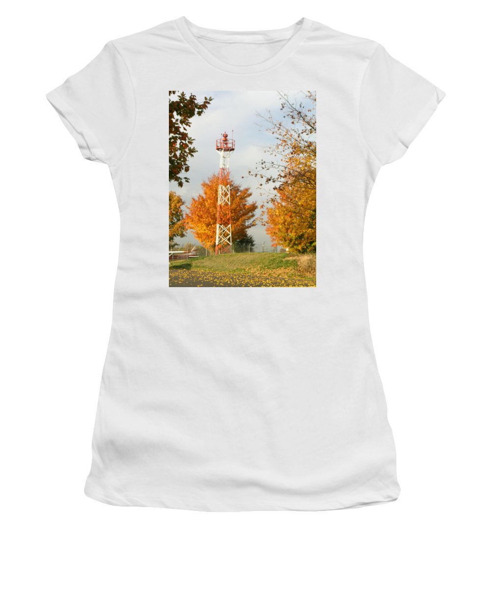 Airport Women's T-Shirt featuring the photograph Airport Tower by Douglas Barnett