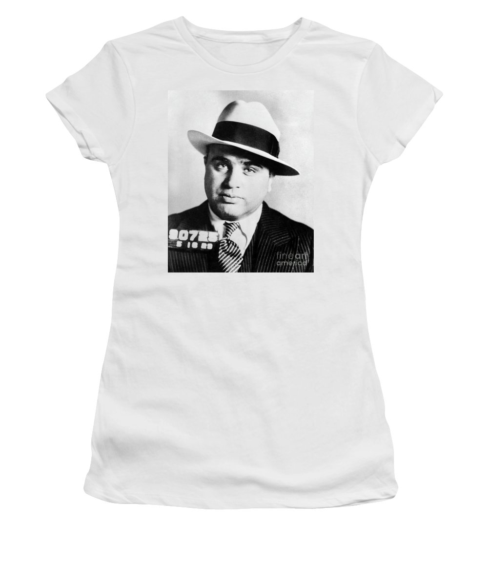 Prohibition Women's T-Shirt featuring the photograph Al Capone Mugsot by Jon Neidert