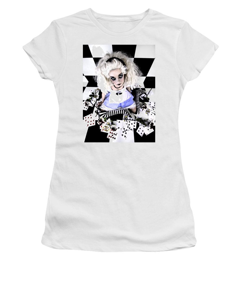Alice In Wonderland Women's T-Shirt featuring the photograph Alice1 by Kelly Jade King