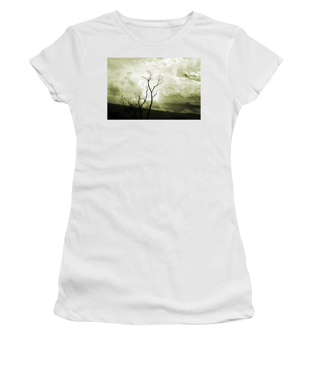 Photograph Women's T-Shirt (Athletic Fit) featuring the photograph Alive by Munir Alawi