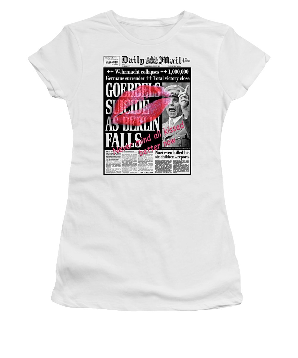 Kiss Women's T-Shirt (Athletic Fit) featuring the digital art All Better Now #1 by Chas Hauxby