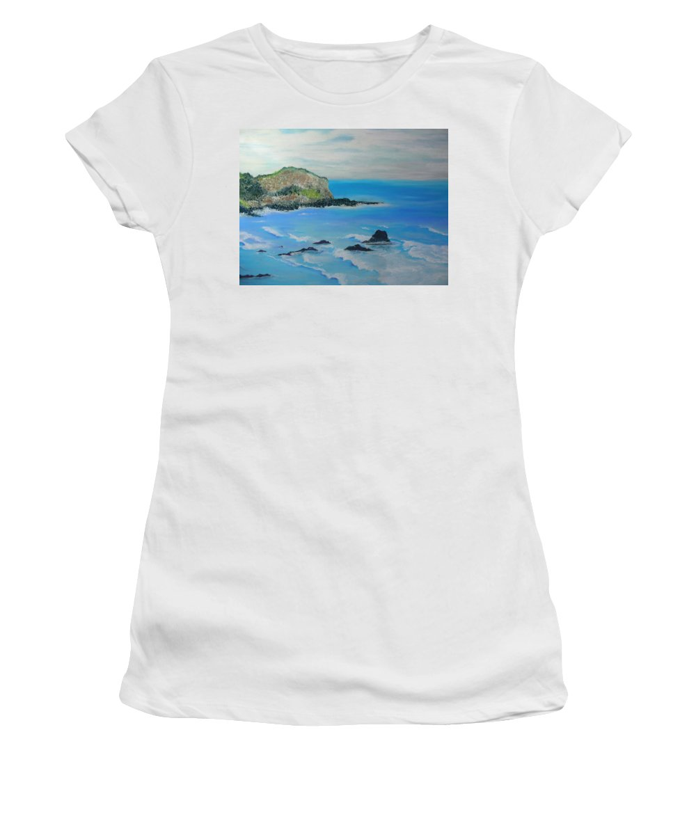 Hawaii Women's T-Shirt (Athletic Fit) featuring the painting Aloha by Melinda Etzold