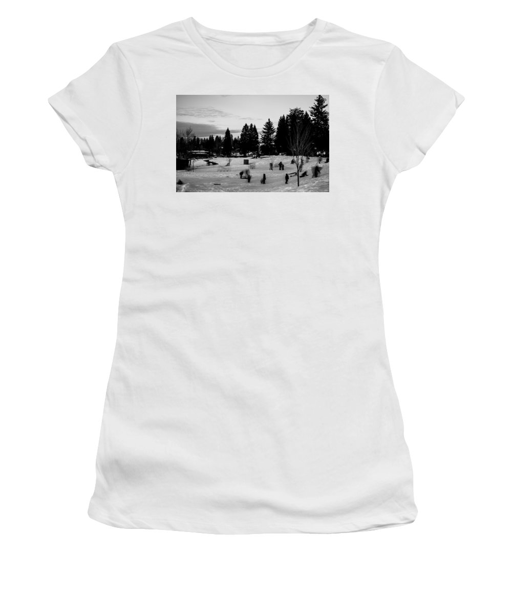 Mccall Women's T-Shirt featuring the photograph Along The Shore 2 by Angus Hooper Iii