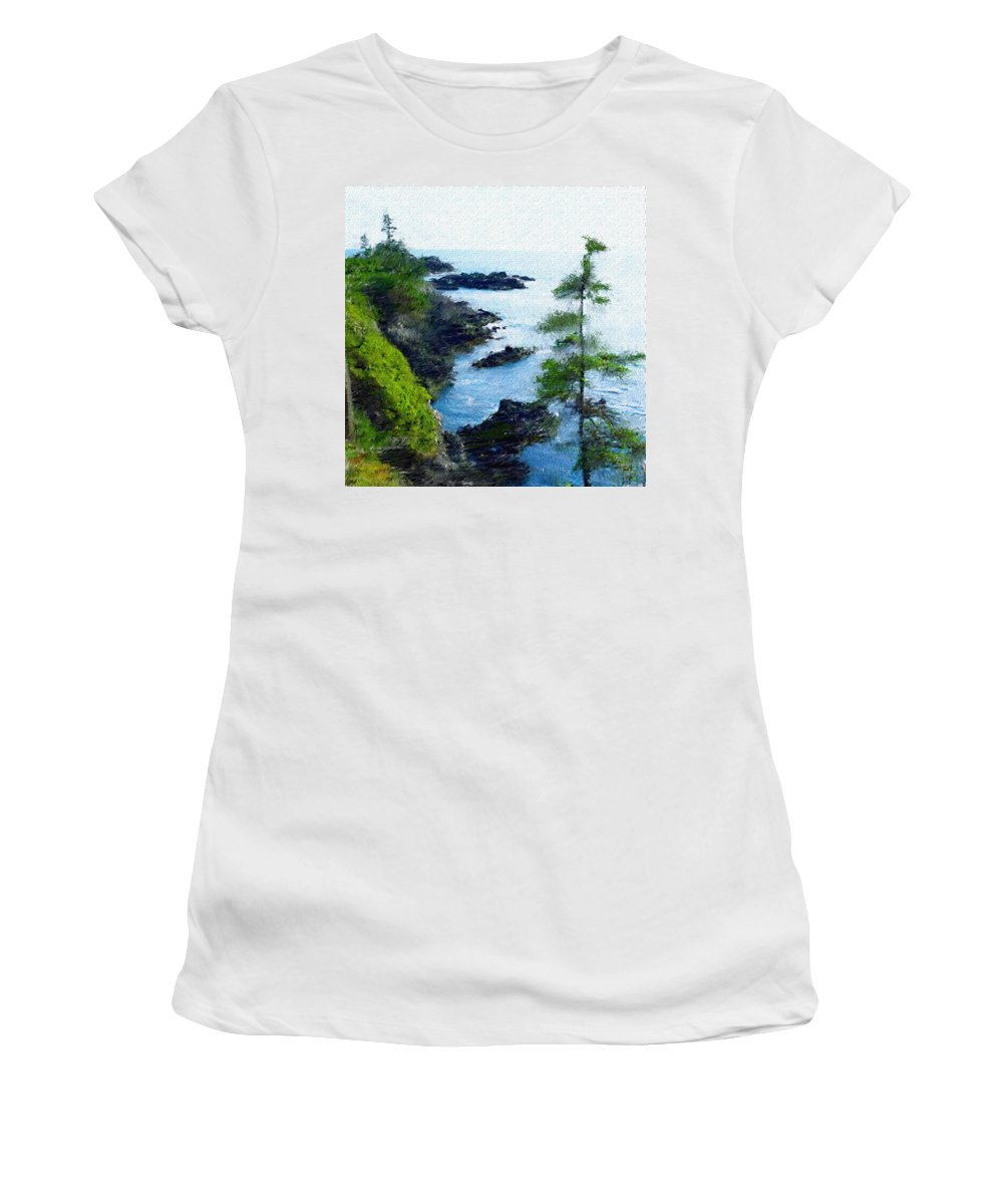 Digital Photograph Women's T-Shirt (Athletic Fit) featuring the photograph Along The West Coast 1 by David Lane